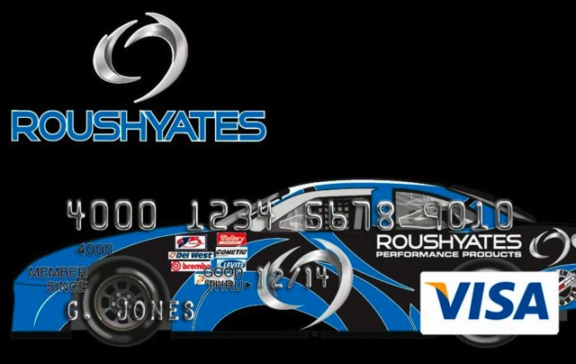 The Roush Yates Visa card, from UMB Financial Services