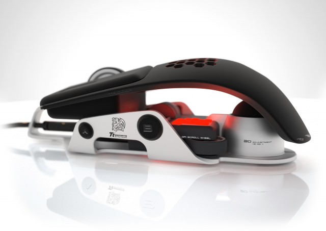 The Thermaltake Level 10 gaming mouse, designed by BMW Designworks USA