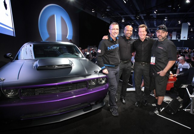 The unveiling of the Project UltraViolet Challenger at SEMA