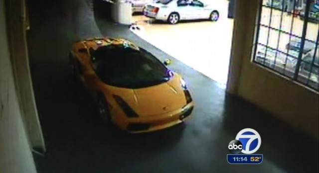 Thief of Guy Fieri's stolen Lamborghini caught on video