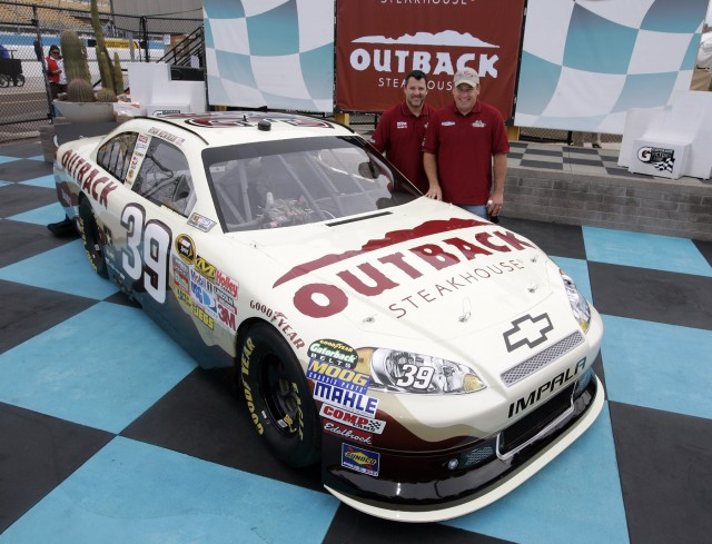 Tony Stewart, Ryan Newman and the No. 39 Outback Steakhouse Chevrolet - CIA Stock photo
