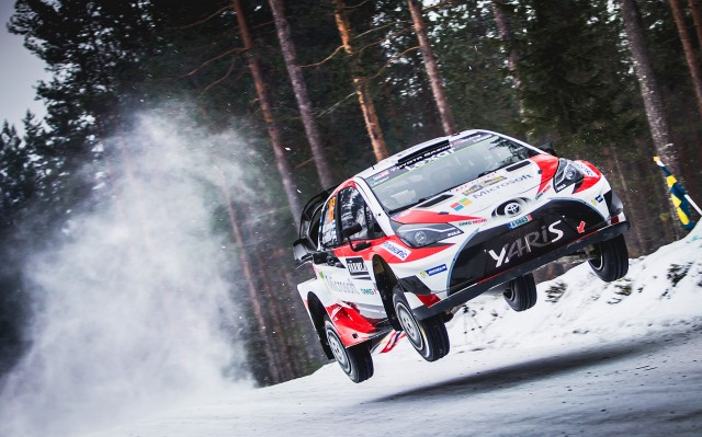 Toyota at the 2017 Rally Sweden