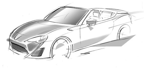 Toyota FT-86 Open Concept sketch