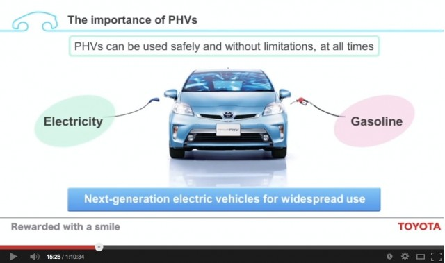 Toyota prefers plug-in hybrids over battery-electrics; they retain the range & refueling of gas cars