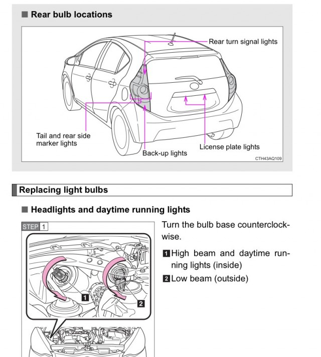 Toyota Prius C Manual Pages