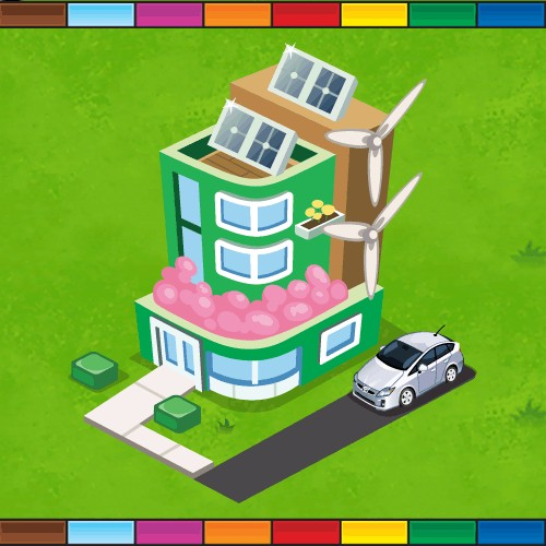 Toyota Prius Eco-Greenhouse in MONOPOLY Millionaires game by Electronic Arts