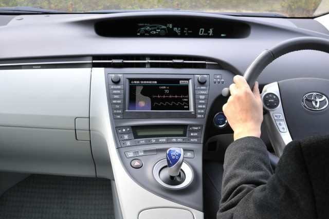Toyota's heart rate monitor