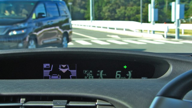 Toyota's Intelligent Clearance Sonar, displaying a dashboard warning - image: Toyota