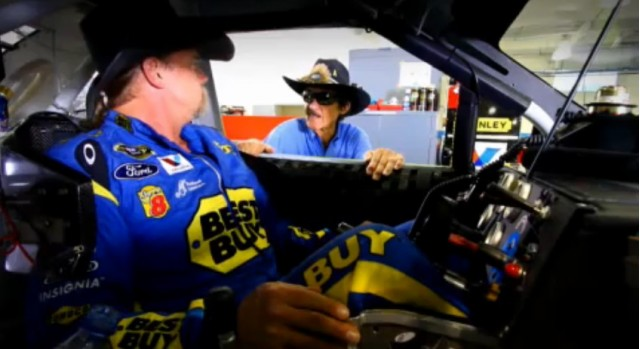 Trace Adkins, Richard Petty in a commercial for BC and Goody's Powder