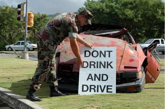 U.S. Navy drunk driving deterrence display