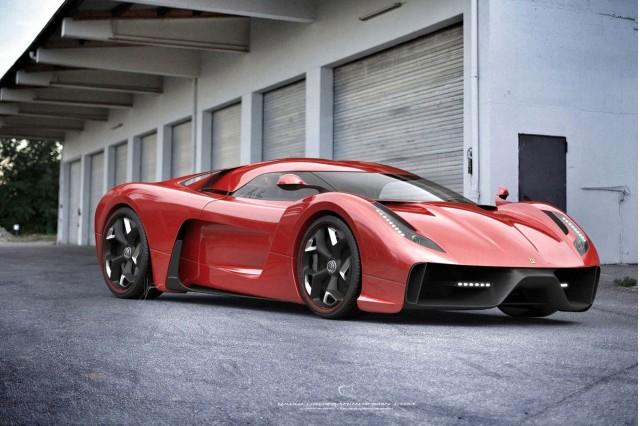 Ugur Sahin Design Project F based on the Ferrari 458 Italia