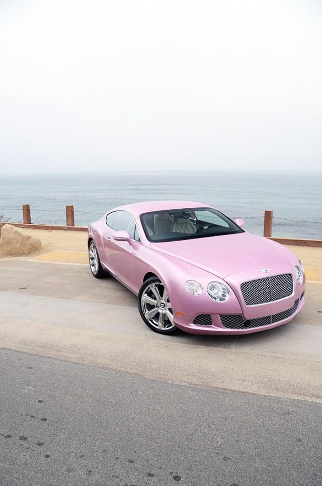 Unique 'Passion Pink' 2012 Bentley Continental GT