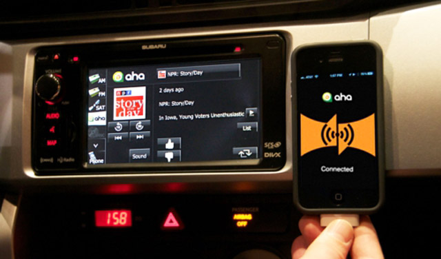 Using Aha in the 2013 Subaru BRZ