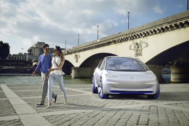 Volkswagen I.D. electric car concept, 2016 Paris auto show