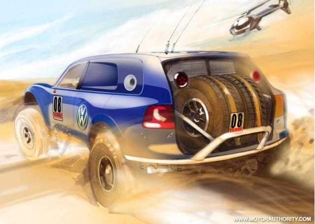 volkswagen red bull baja race touareg tdi trophy truck 004