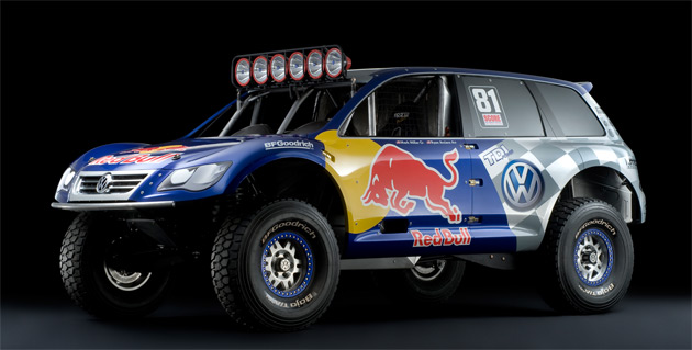 Volkswagen's racing Touareg is powered by a 550hp (405kW) 5.5L V12 TDI diesel engine