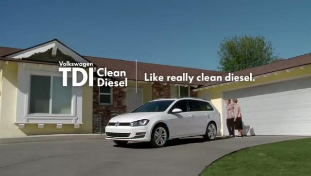Volkswagen TDI 'clean diesel' television ad screencap