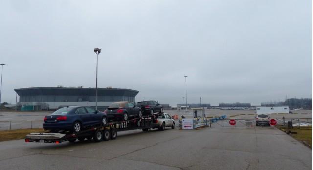 Volkswagen TDI diesel cars stored at Pontiac Silverdome (Photo by Jalopnik)