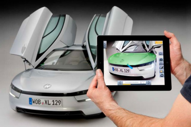 Volkswagen's MARTA augmented reality service app for iPad