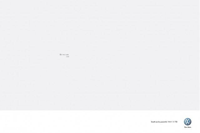 Volkswagen's 'Yes We Can' ad