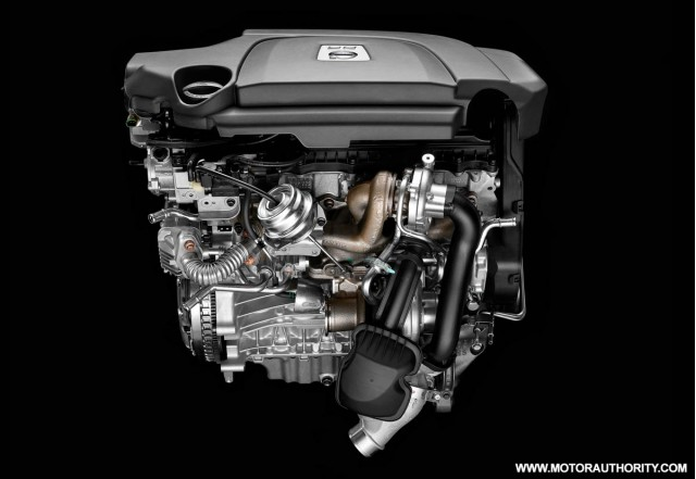 volvo d5 twin turbo diesel euro 5 five cylinder engine 001