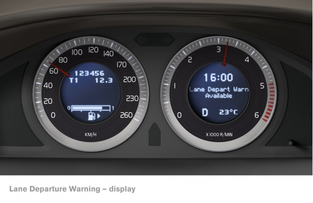 Volvo lane departure warning