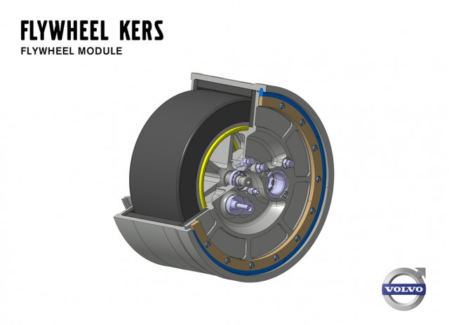 Volvo flywheel Kinetic Energy Recovery System (KERS)