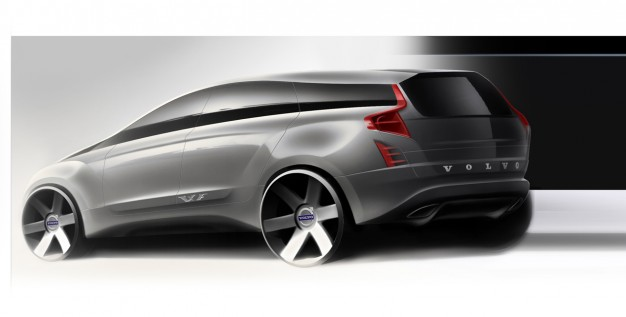 Volvo's design sketches for the 2014 Volvo XC90