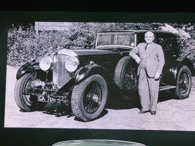 W.O. Bentley and his 1930 8-litre saloon
