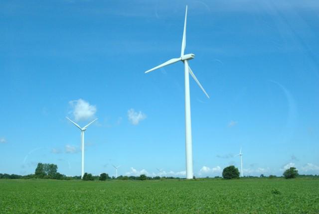 Wind farm, by Flickr user Patrick Finnegan (Used under CC License)