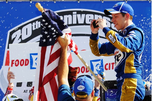 Winner Brad Keselowski snaps pics in Victory Lane - NASCAR photo