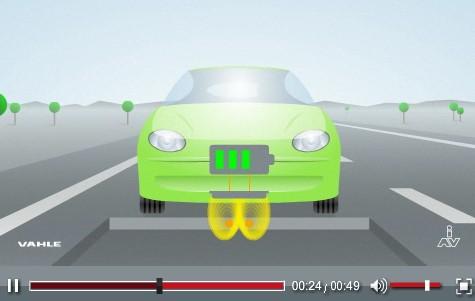 Wireless EV charging demo from Ingenieurgesellschaft Auto und Verkehr