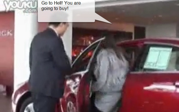 Video: Shanghai Woman Forces Man To Buy Buick