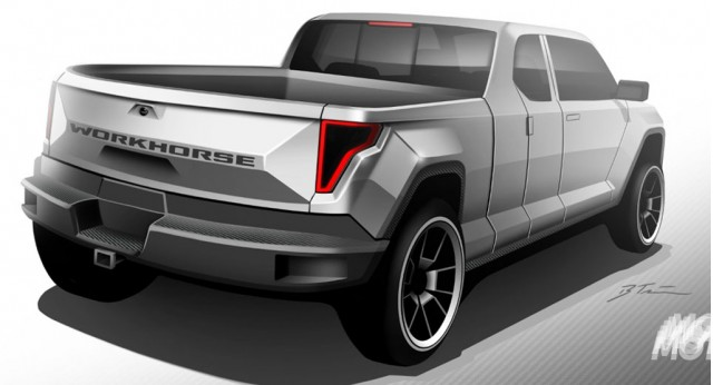 Workhorse range-extended electric pickup truck announced ...