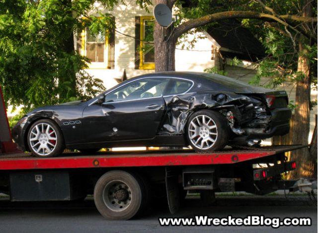 Wrecked Maserati Gran Turismo