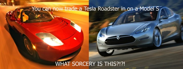You can now trade in your Tesla Roadster for a Model S