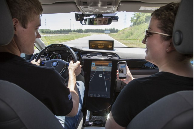 ZF's distracted driver technology