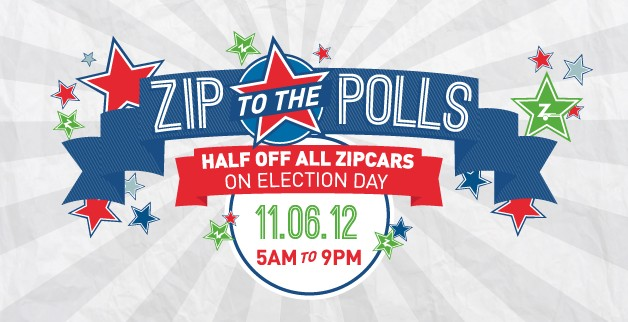 Zipcar's 'Zip to the Polls' promo for the 2012 election
