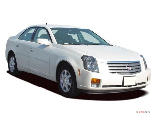 2007 Cadillac CTS 4-door Sedan 3.6L Angular Front Exterior View