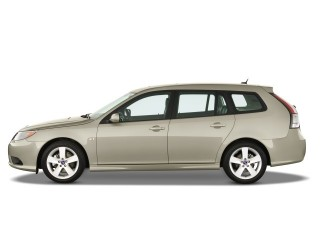 2008 Saab 9-3 4-door Wagon SportiCombi Side Exterior View