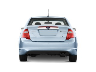 2010 Ford Fusion Hybrid 4-door Sedan Hybrid FWD Rear Exterior View