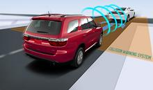 Dodge Durango with foreward collision warning
