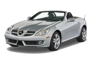2011 Mercedes-Benz SLK Class 2-door Roadster SLK350 Angular Front Exterior View