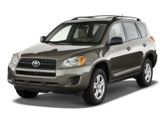 2011 Toyota RAV4 FWD 4-door 4-cyl 4-Spd AT (GS) Angular Front Exterior View