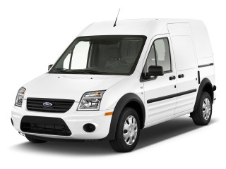 "2012 Ford Transit Connect 114.6"" XL w/o side or rear door glass Angular Front Exterior View"