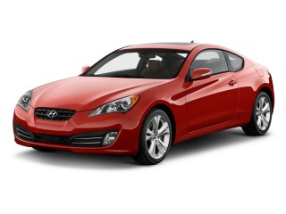 2012 Hyundai Genesis Coupe 2-door 3.8L Auto Grand Touring w/Brn Lth Angular Front Exterior View