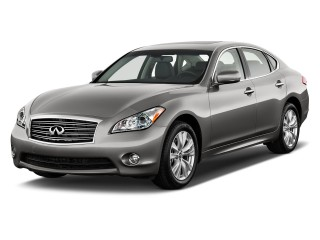 2012 Infiniti M56 4-door Sedan RWD Angular Front Exterior View