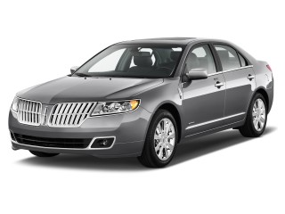 2012 Lincoln MKZ 4-door Sedan Hybrid FWD Angular Front Exterior View