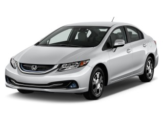 2013 Honda Civic Hybrid 4-door Sedan L4 CVT Angular Front Exterior View