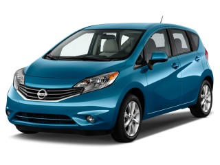2014 Nissan Versa Note 5dr HB CVT 1.6 S Plus Angular Front Exterior View